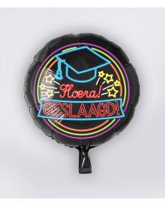 NEON Folie Ballon Geslaagd