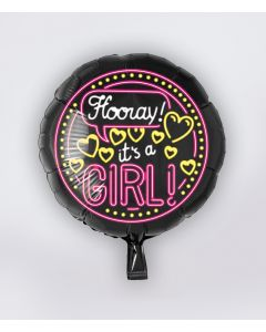 NEON Folie Ballon Its a Girl