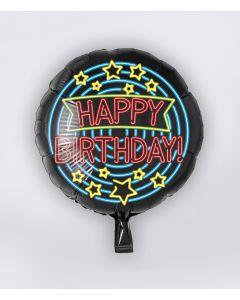 NEON Folie Ballon Happy Birthday