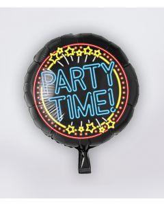 NEON Folie Ballon Party Time