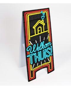 Neon Warning-Sign ( pas op ) Welkom Thuis
