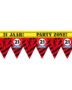 Party tape 21 jaar 12 meter