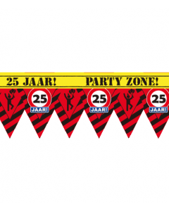 Party tape 25 jaar 12 meter