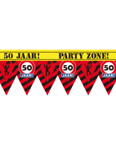 Party tape 50 jaar 12 meter
