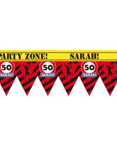 Party tape Sarah 12 meter