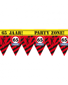 Party tape 65 jaar 12 meter