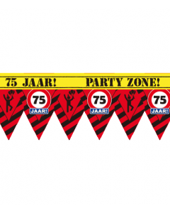 Party tape 75 jaar 12 meter
