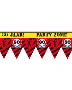 Party tape 80 jaar 12 meter