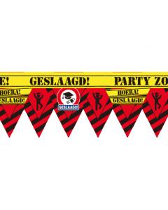 Party tape  geslaagd 12 meter