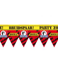 Party tape  bruidspaar van het jaar 12 meter