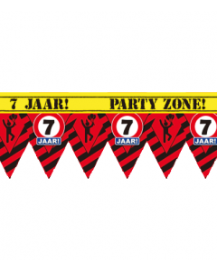 Party tape 7 jaar 12 meter