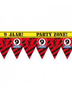 Party tape 9 jaar 12 meter