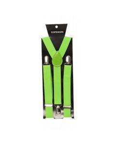 Bretels Neon Groen Smal