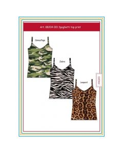 Dames spaghetti Top Met Camouflage Print