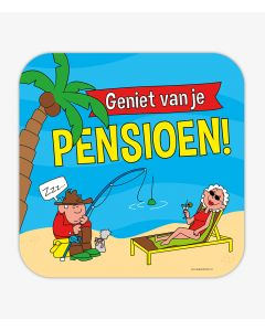 Huldeschild Pensioen Cartoon