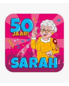 Huldeschild - Sarah Cartoon