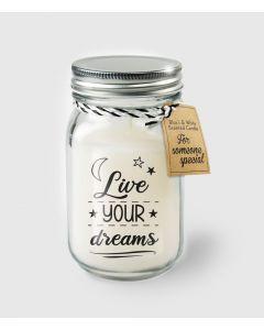 Geur Kaars Live Your Dreams