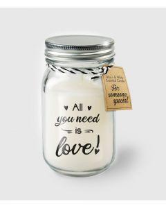 Geur Kaars All You Need Is Love