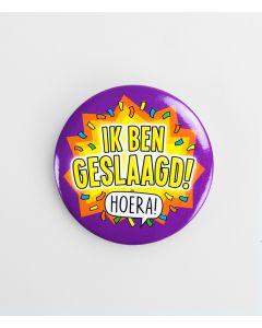 Button Klein-Hoera ik Ben Geslaagd!