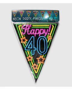 Neon Vlaggenlijn 40 Jaar