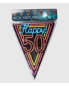 Neon Vlaggenlijn 50 Jaar