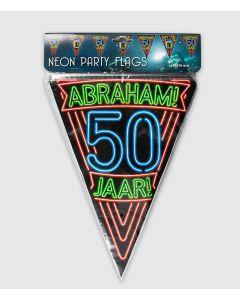 Neon Vlaggenlijn Abraham