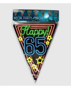 Neon Vlaggenlijn 65 Jaar