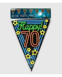 Neon Vlaggenlijn 70 Jaar