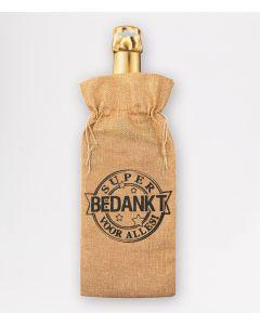 Bottle Gift Bag - Bedankt