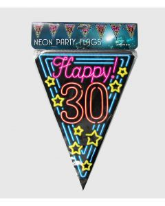 Neon Vlaggenlijn 30 Jaar