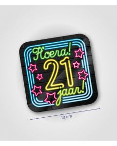 NEON Huldeschild 21 jaar