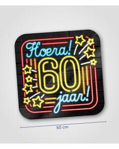 NEON Huldeschild 60 jaar