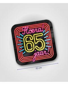 NEON Huldeschild 65 jaar