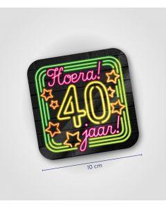 NEON Onderzetter 40 jaar