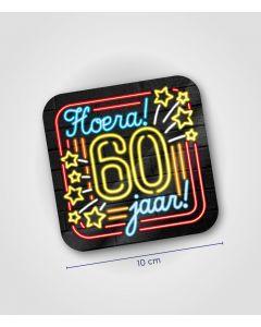 NEON Onderzetter 60 jaar