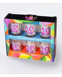 Shot Glaasjes 50 j per 6 stuks