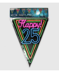 25 Jaar - Neon Vlaggenlijn
