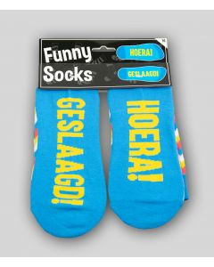 Funny Sokken Hoera! Geslaagd!