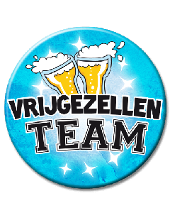 XL Button  - Vrijgezellen Team Man