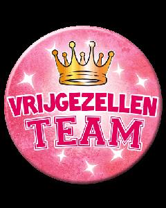XL Button  - Vrijgezellen Team Vrouw