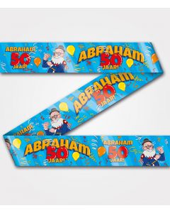 Abraham 50 jaar cartoon-Party Tape
