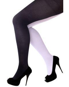 Panty zwart/wit