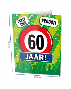 60 Jaar Raambord ( Window-sign )