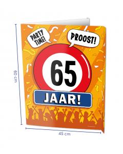 65 Jaar Raambord ( Window-sign )