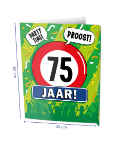 75 Jaar Raambord ( Window-sign )