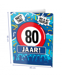 80 Jaar Raambord ( Window-sign )