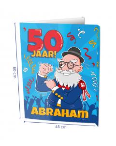 Abraham 50 Jaar Raambord ( Window-sign )