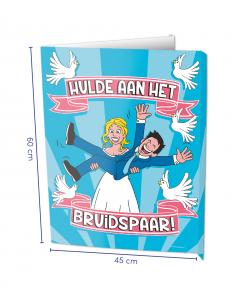 Raambord ( Window-sign ) Hulde aan het bruidspaar