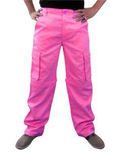 Broek Fluor Roze Unisex-XS