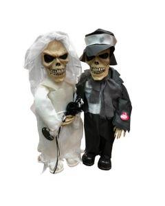 Zingend Skeletten Bruidspaar Met Licht En Geluid 50 Cm